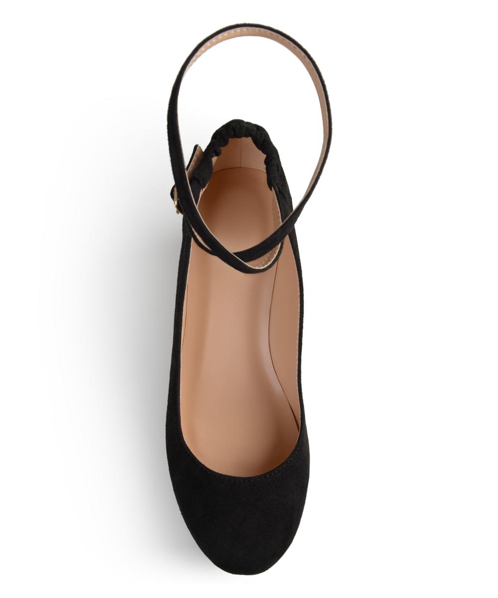 ba7da628e11 Journee Collection Black Tibby Ankle-Strap Wedge - Women