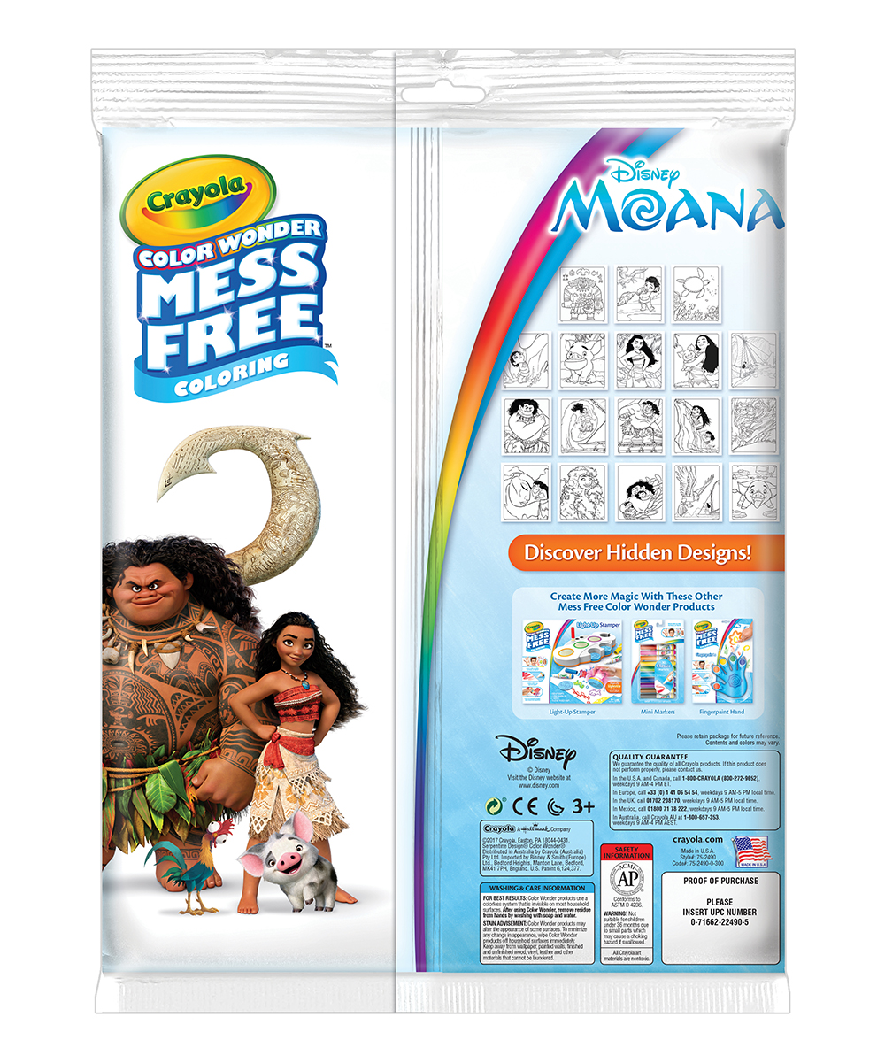Crayola Moana Color Wonder Mess Free Coloring Book Markers Zulily