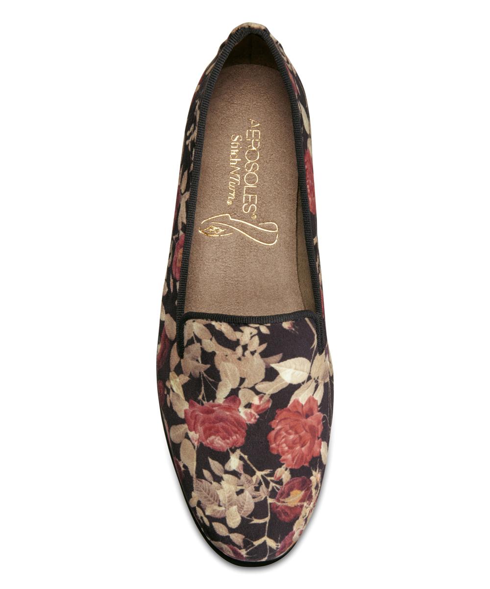 4694a94a8df Aerosoles Black Floral Betunia Loafer - Women
