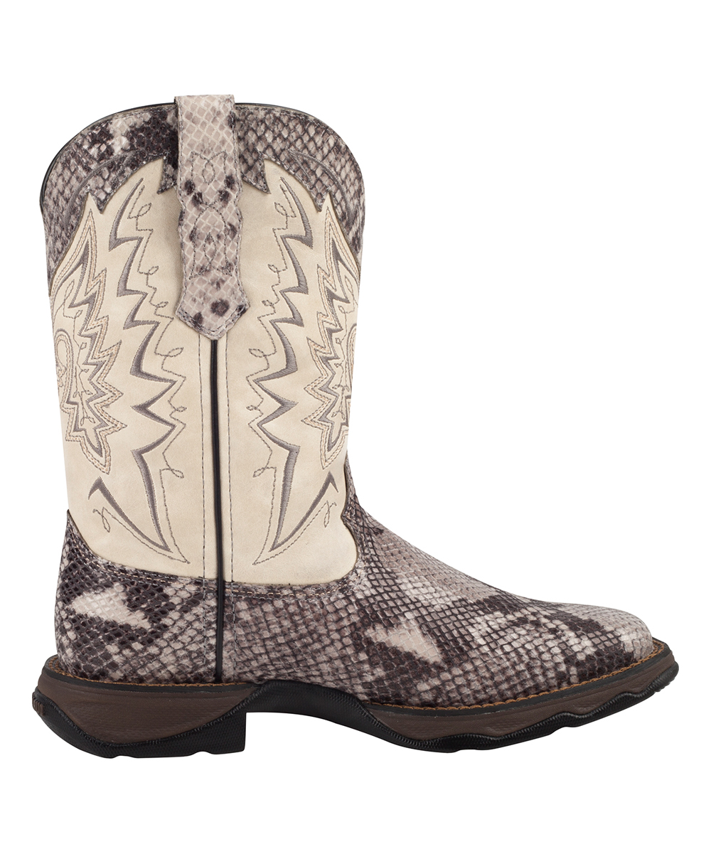 2e86290fbf0 Durango White Snakeskin Lady Rebel Durango Leather Cowboy Boot - Women