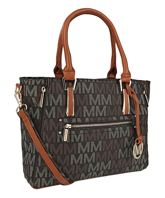 Brown Signature 'M' Siena Satchel