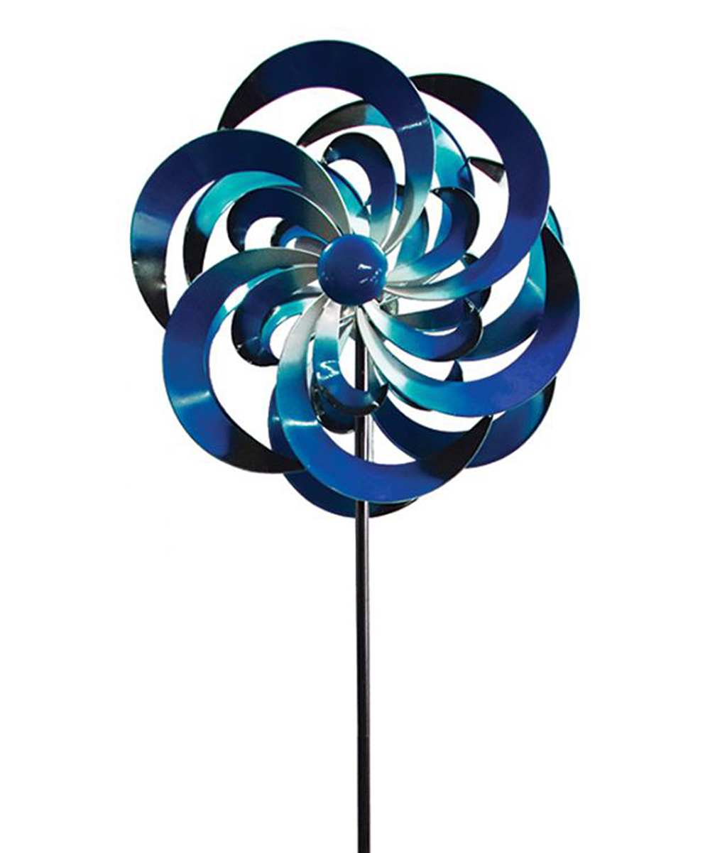 Blue Big Sky Garden Stake Blue Big Sky Garden Stake. Enliven your garden space with plenty of kinetic whimsy thanks to this playful spinning garden stake. 24'' W x 76'' H x 10'' DIronImported