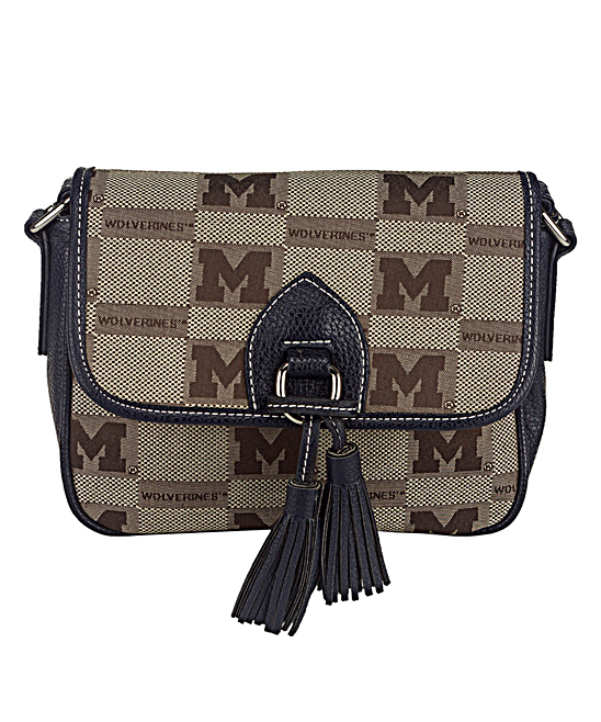 Michigan Wolverines Signature Line Tassel Crossbody Bag