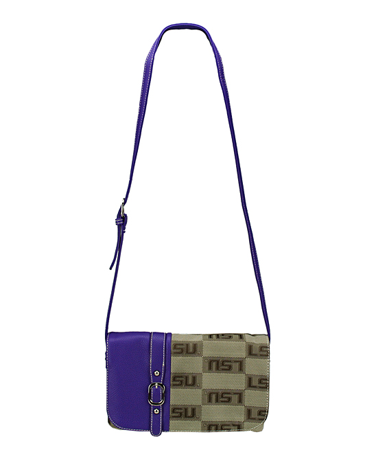 LSU Tigers Signature Line Crossbody Bag