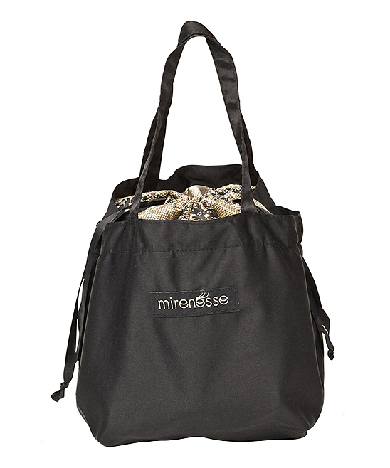 Black Satin Boutique Drawstring Bag Black Satin Boutique Drawstring Bag. Large enough to store all your skincare and makeup essentials, this satin bag that features a secure drawstring closure keeps your beauty needs close at hand and organized in sleek style.13.18'' W x 6.9'' H x 6.7'' D35 cm W x 17 cm H x 17 cm DSatinDrawstring closureImportedShipping note: This item is shipping from Australia.