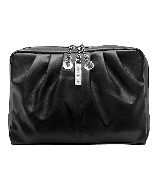 Black Diamond Drops Boutique Zip Pouch Black Diamond Drops Boutique Zip Pouch. This durable pouch is a convenient carryall for your beauty needs thanks to its roomy interior and quick zip closure. 8'' W x 6.3'' D x 2.5'' DSatinZip closureImportedShipping note: This item is shipping from Australia.