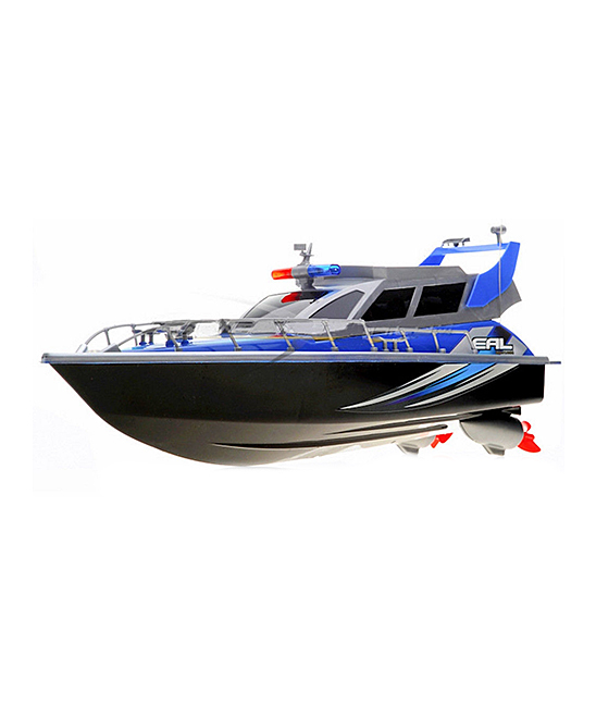A to Z Toys  Remote Control Toys  - Blue Remote Control Patrol Boat