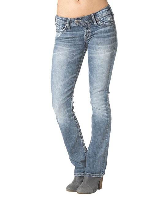 479e254b79d Silver Jeans Co. Indigo Medium Wash Tuesday Low Slim Bootcut Jeans ...