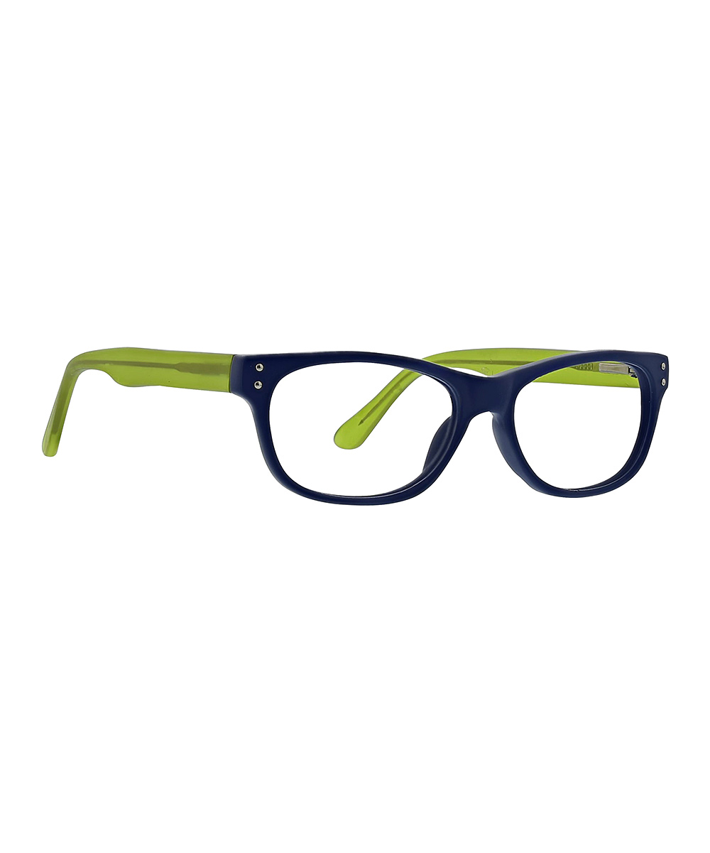 Life is Good  Reading Glasses MATTE - Matte Blue & Green Cinema Readers