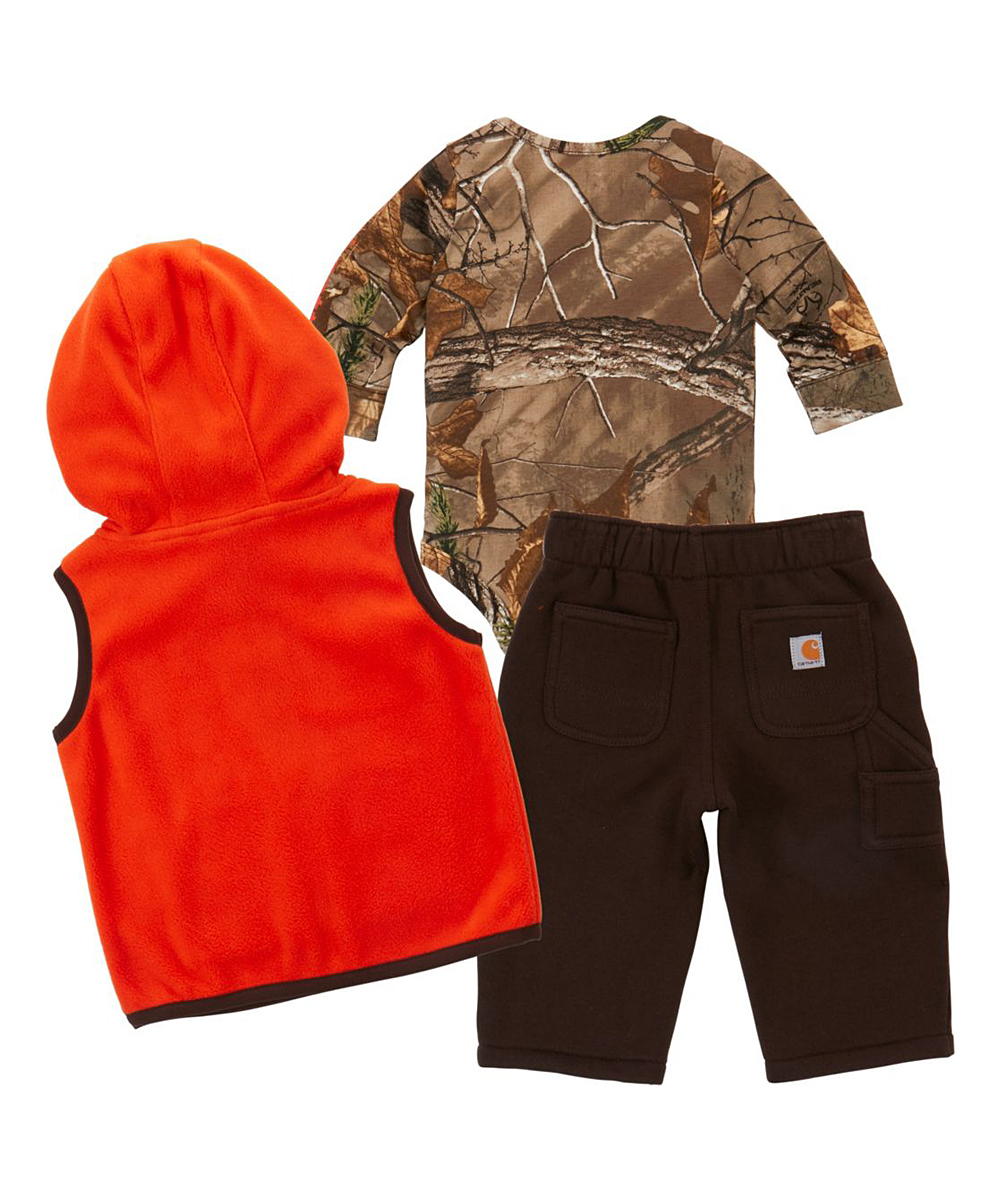 1b75a76461c5e love this product Mustang Brown   Realtree Xtra® Fleece Pants Set - Infant