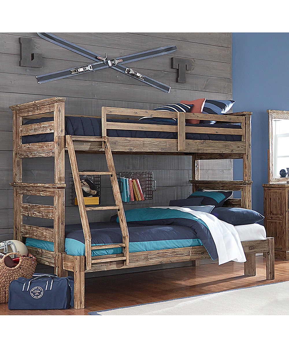 ... Womens Cocoa Oxford Oliver Twin-Over-Full Bunk Bed - Alternate Image 2 91272966bc