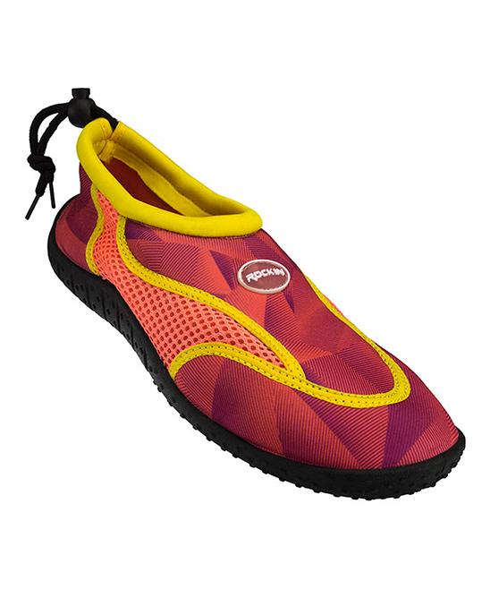 Rockin Footwear  Water shoes C - Orange Aqua Earth Water Shoe - Kids