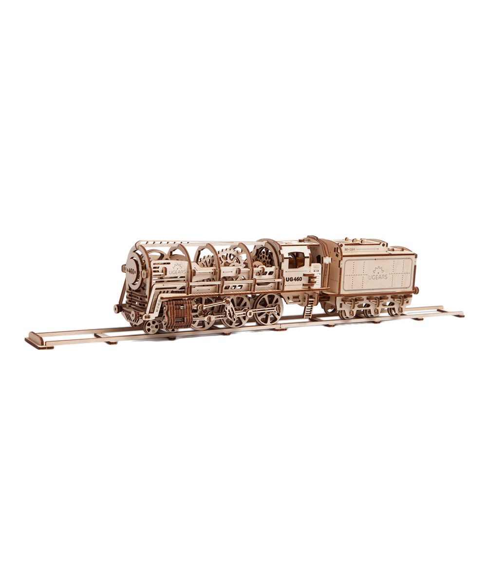 Ugears Steam Locomotive Tender Wooden Model Kit