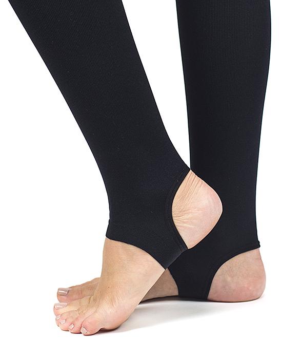 e0e76e5dcc ... Womens Black Black RejuvaWear® 15-20 mmHg Compression Stirrup Leggings  - Women - Alternate ...