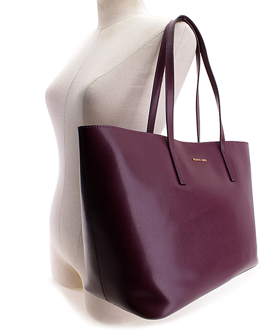 dbf468120798 Michael Kors Plum Emry Large Leather Tote | Zulily