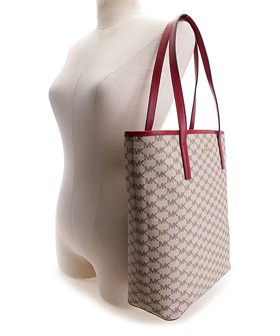 049d52d8de91 ... Womens NATURAL/CHERRY Natural & Cherry Emry Large Logo Tote - Alternate  Image 4
