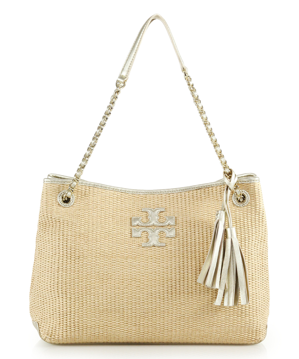 65497a58055 Tory Burch Natural Thea Center-Zip Straw Tote | Zulily