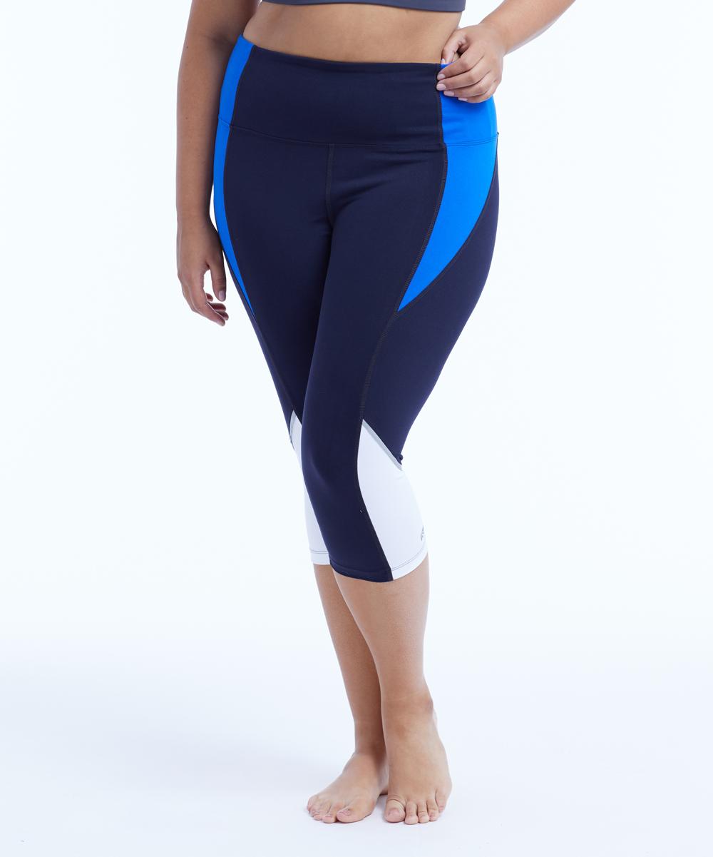 84fd386a34c469 Marika Curves Midnight Blue Iconic High-Waist Capri Leggings - Plus ...