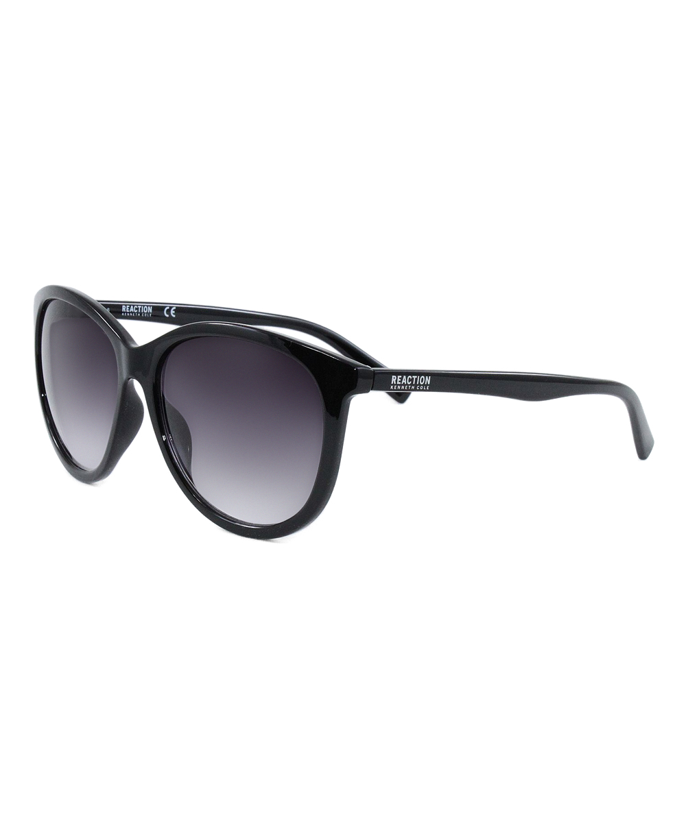 6e8629569f154 Kenneth Cole Reaction Shiny Black   Smoke Gradient Sunglasses ...
