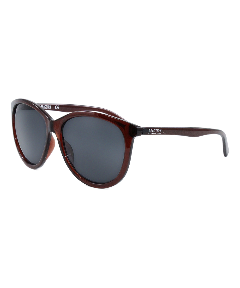 d963e76bdab05 Kenneth Cole Reaction Gray   Brown Crystal Sunglasses - Women ...