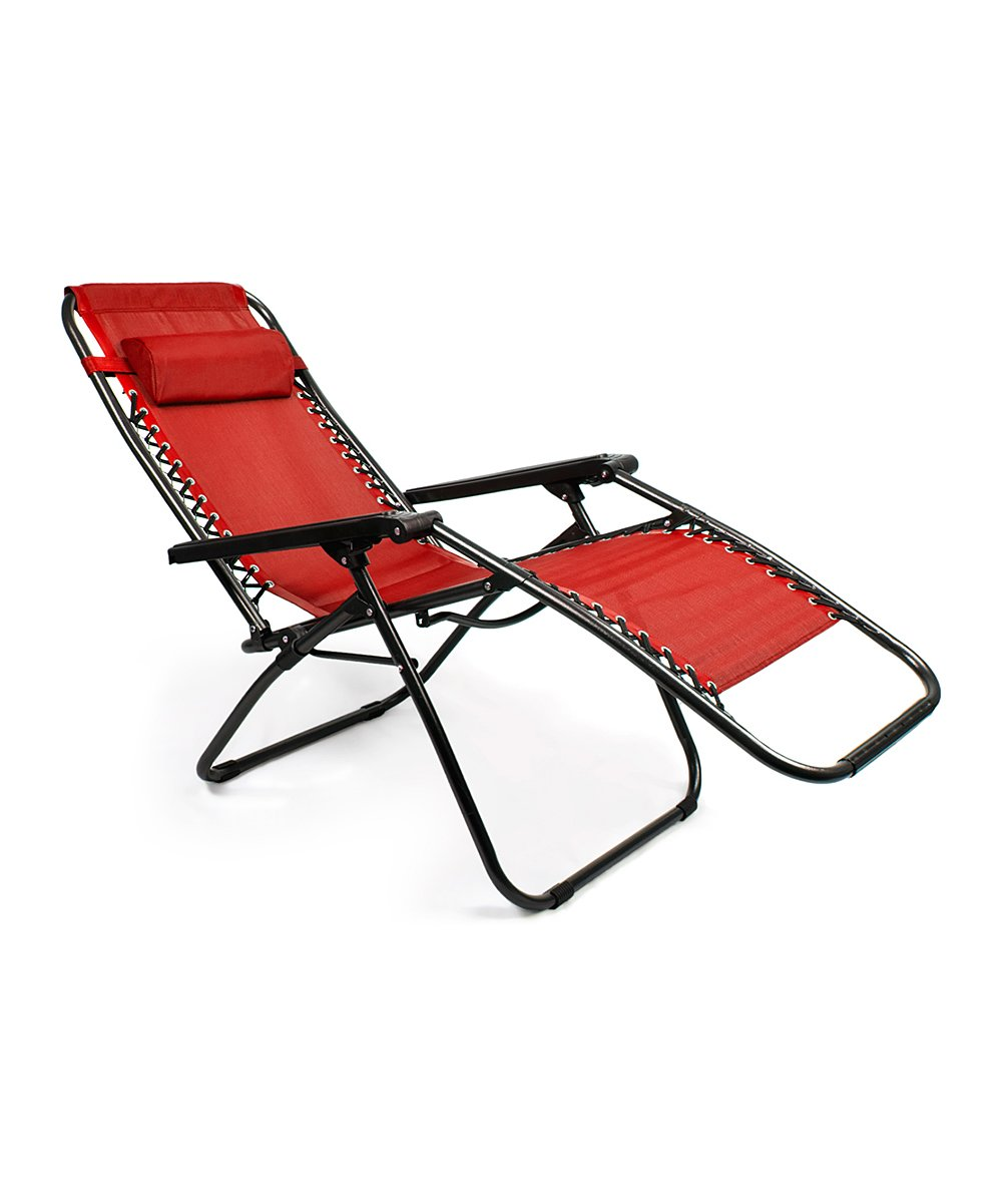 Fabulous Red Zero Gravity Folding Lounge Chair Pabps2019 Chair Design Images Pabps2019Com