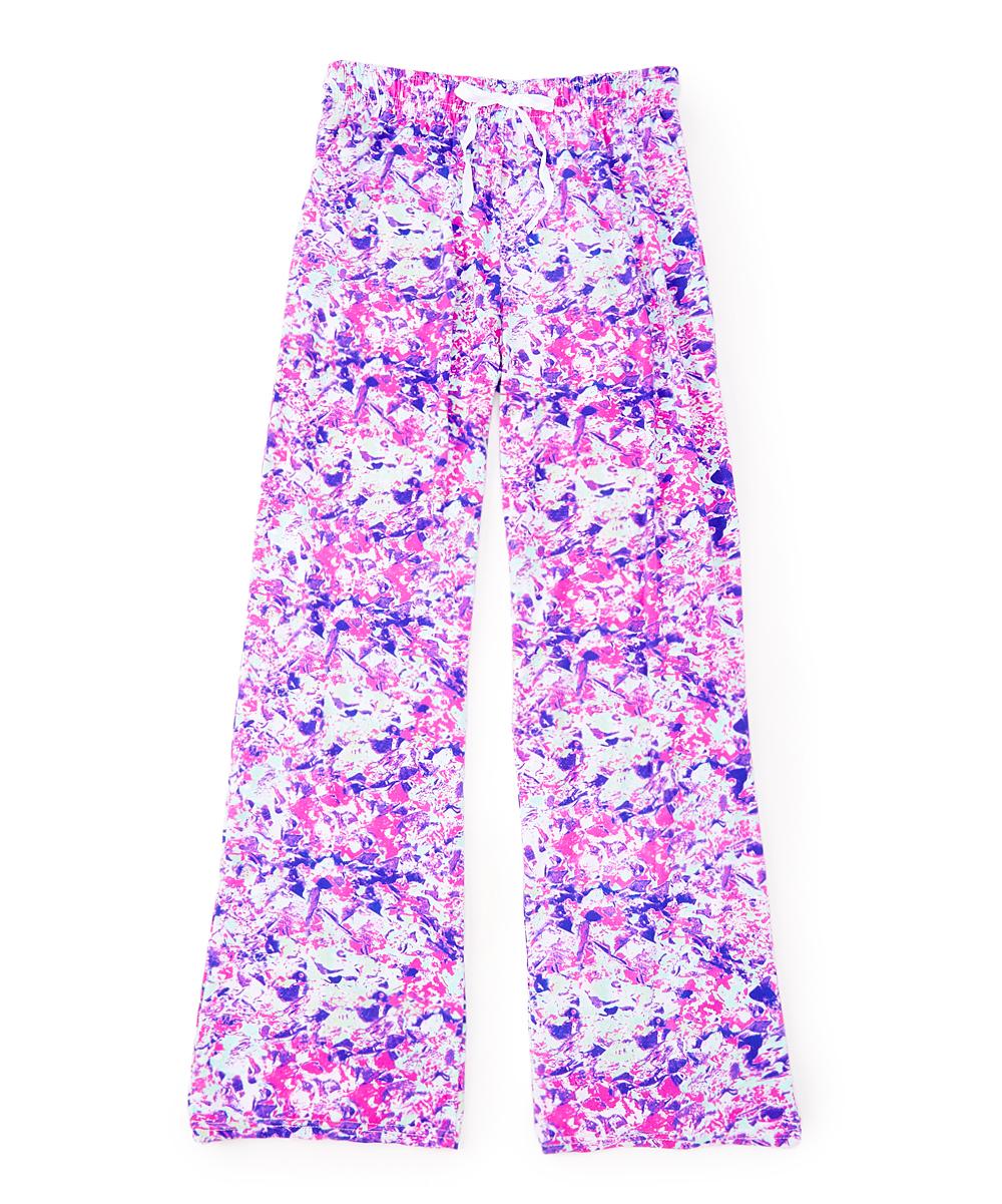 Hello Mello Purple Pink Abstract Hello Mello Lounge Pants