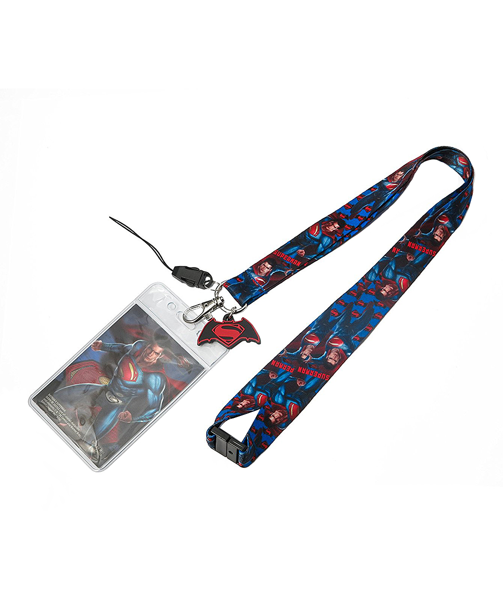 Superman Lanyard & Card Holder Superman Lanyard & Card Holder. Keep your Daily Planet ID badge secure in the card holder attached to this vibrant Superman-themed lanyard. Includes lanyard and card holderPlastic / metalImported