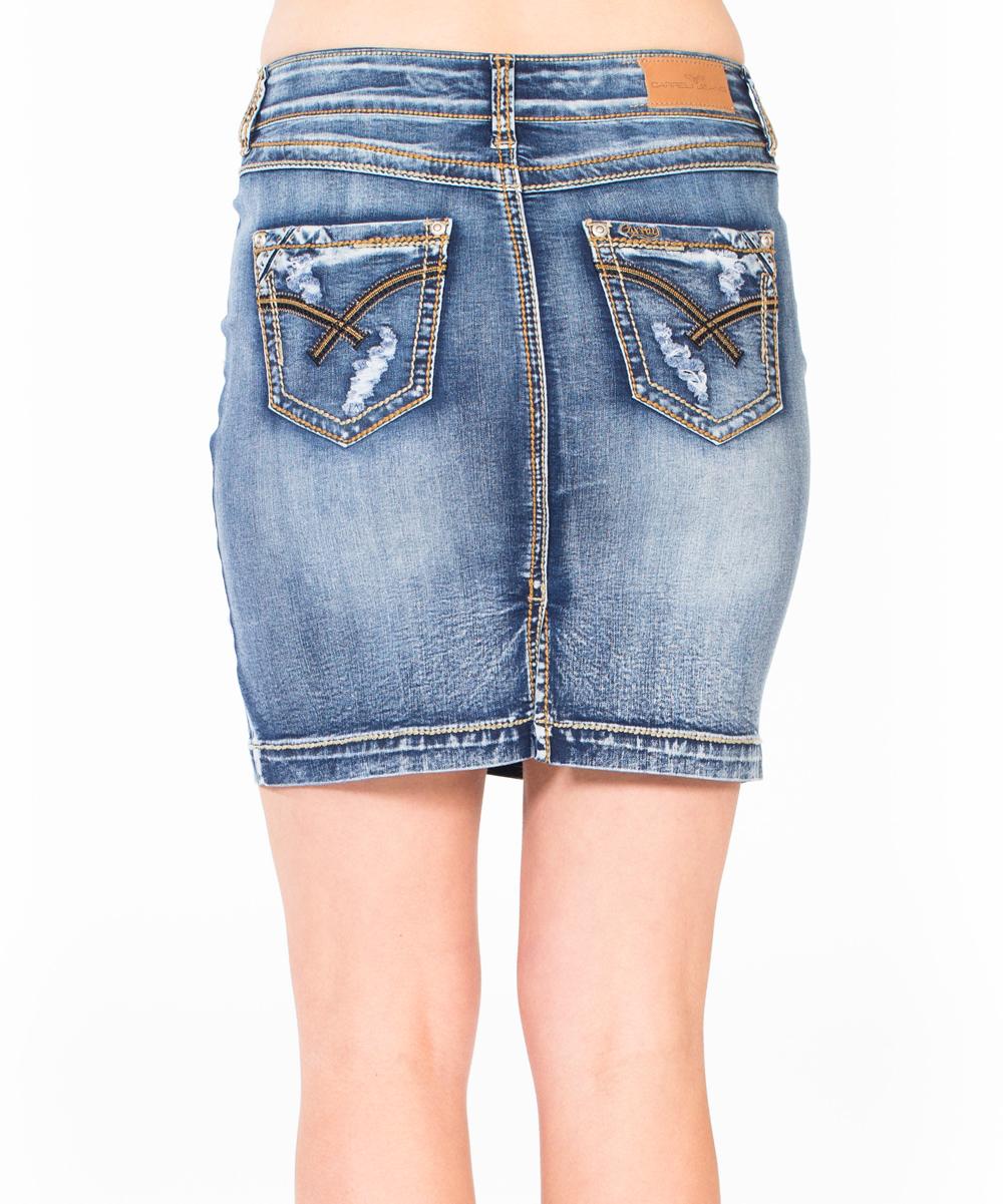 d09d7a2f76f5 Distressed Jean Pencil Skirt – DACC