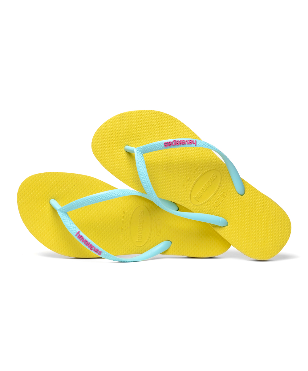 d6abaa5f65b7 ... Girls UP REVIVAL YELLOW Revival Yellow Logo Pop Up Slim Flip-Flop -  Alternate Image