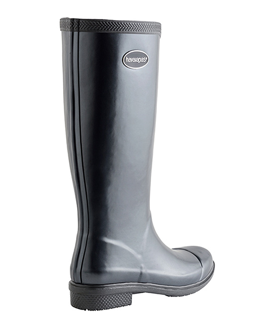 161205beca99fd ... Womens DARK GREY METALLIC Dark Gray Metallic Galochas Hi Rain Boot -  Alternate Image 4