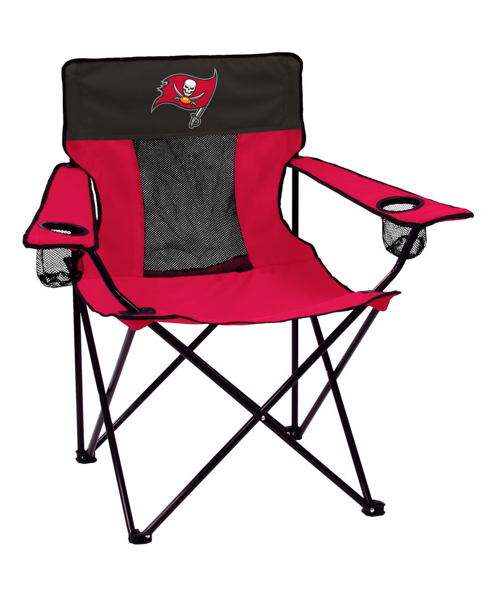 Logo Brands  Camp Furniture Red - Tampa Bay Buccaneers Elite Chair
