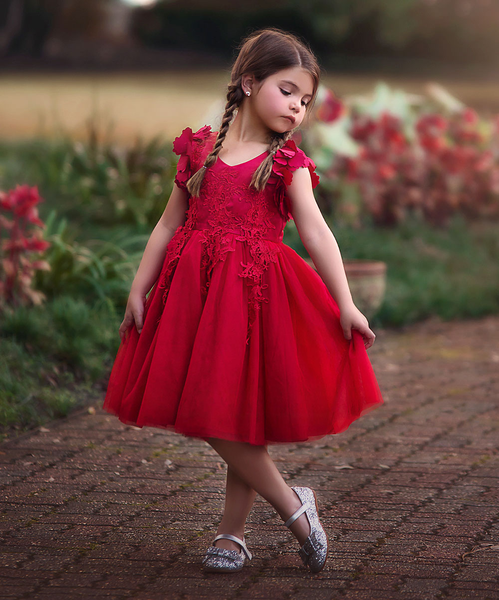 Trish Scully Child Red Bianca Dress - Toddler