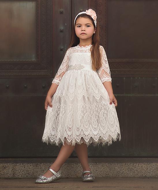 eaf802e018f01 ... Girls Antique White White Bella Rafaella Dress - Infant, Toddler & Girls  - Alternate Image ...