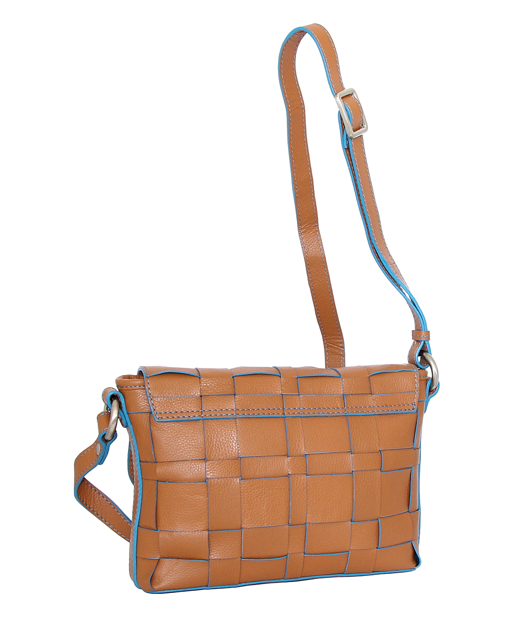 e3cce7bed0 ... Womens Chocolate Chocolate Christina Leather Crossbody Bag - Alternate  Image 2