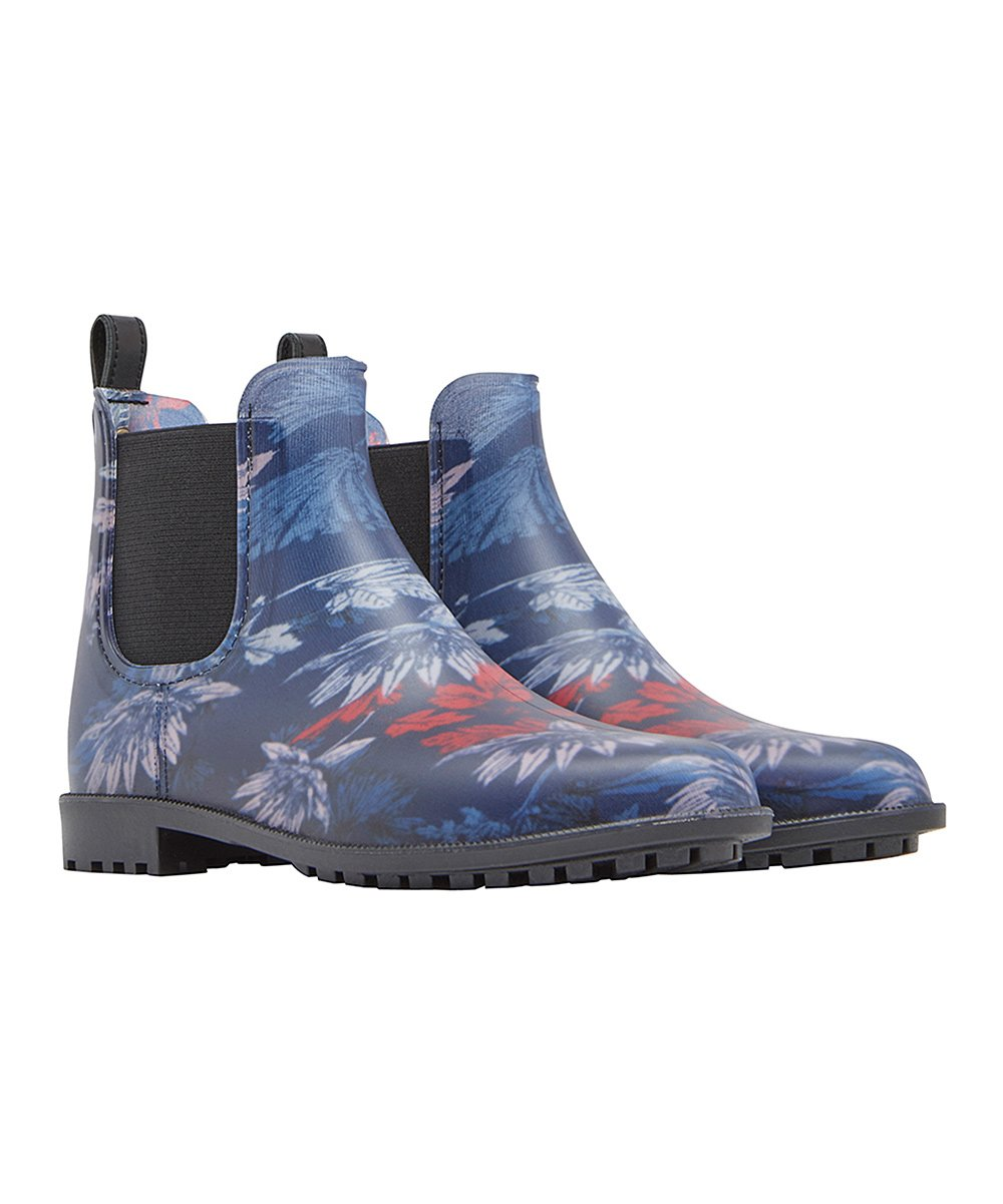 db4111af287 Joules French Navy Fay Floral Rockingham Rain Boot - Women