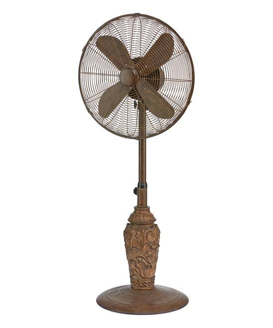 DecoBREEZE Adjustable Height Oscillating Outdoor Pedestal Fan, 18 In, Cantalonia