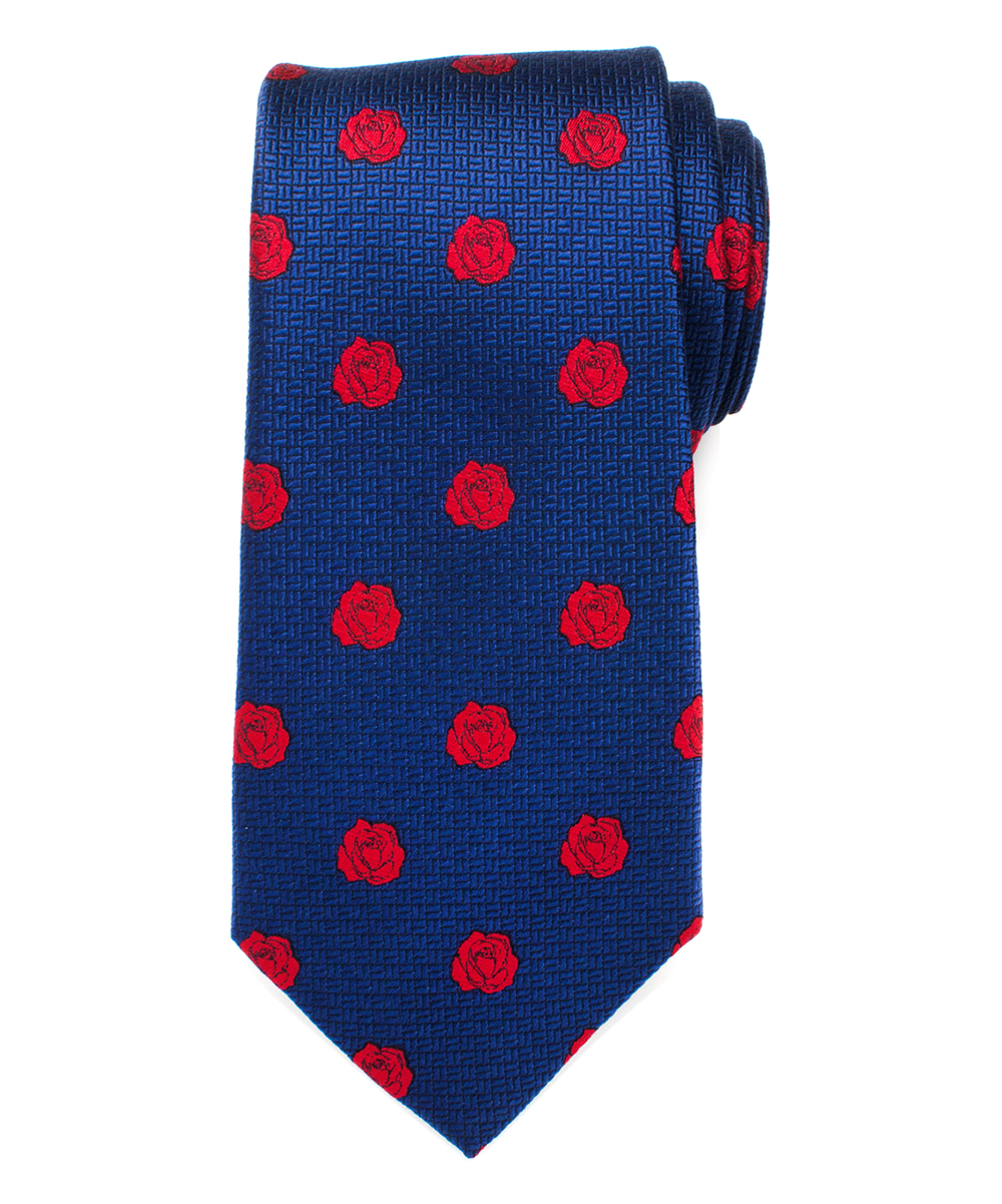 Cufflinks, Inc Men's Neckties  - Beauty and the Beast Navy & Red Silk Neck Tie