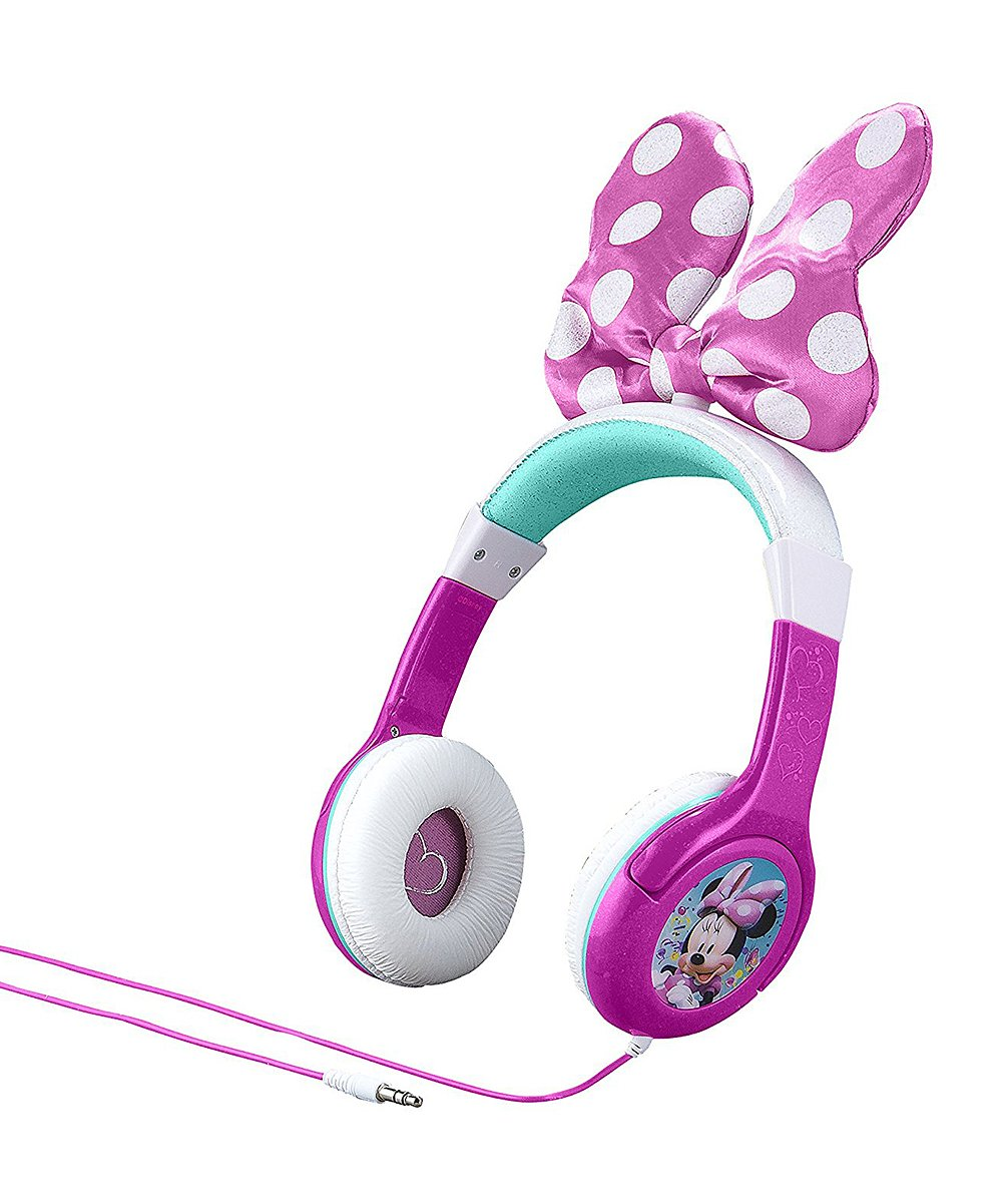 KIDdesigns  Wired Headphones  - Minnie Mouse Bow On-Ear Headphones