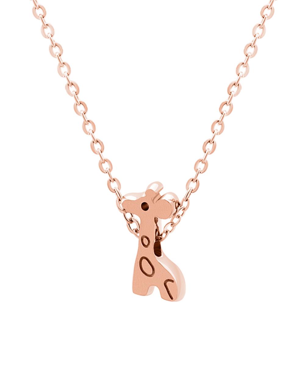 Midori Yamanouchi Rose Goldtone Giraffe Pendant Necklace - Girls ...