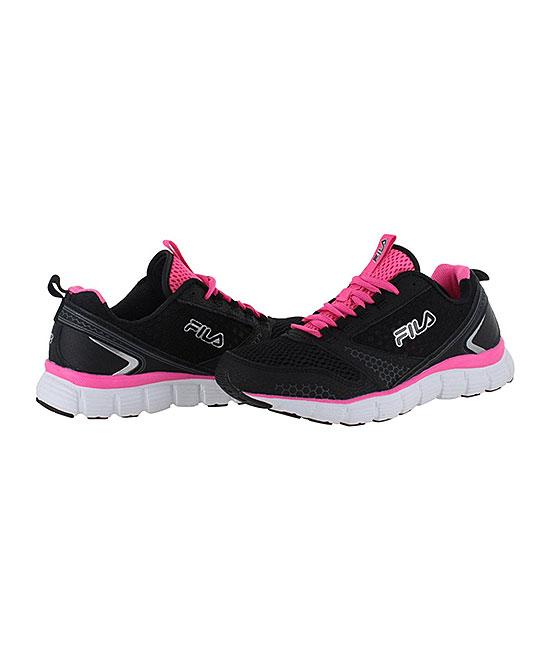 b4f1eadbf154 FILA Black   Pink Memory Windstar Running Shoe - Women