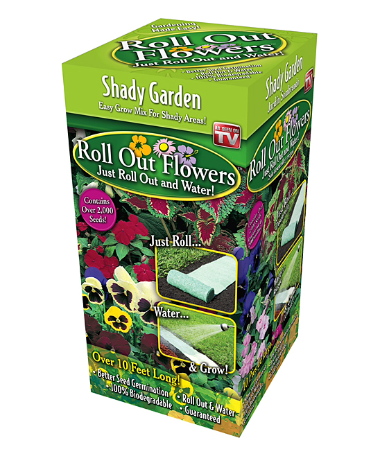 Roll Out Flowers  Plant Seeds  - Shady Garden Roll-Out Plant Seed Garden Roll
