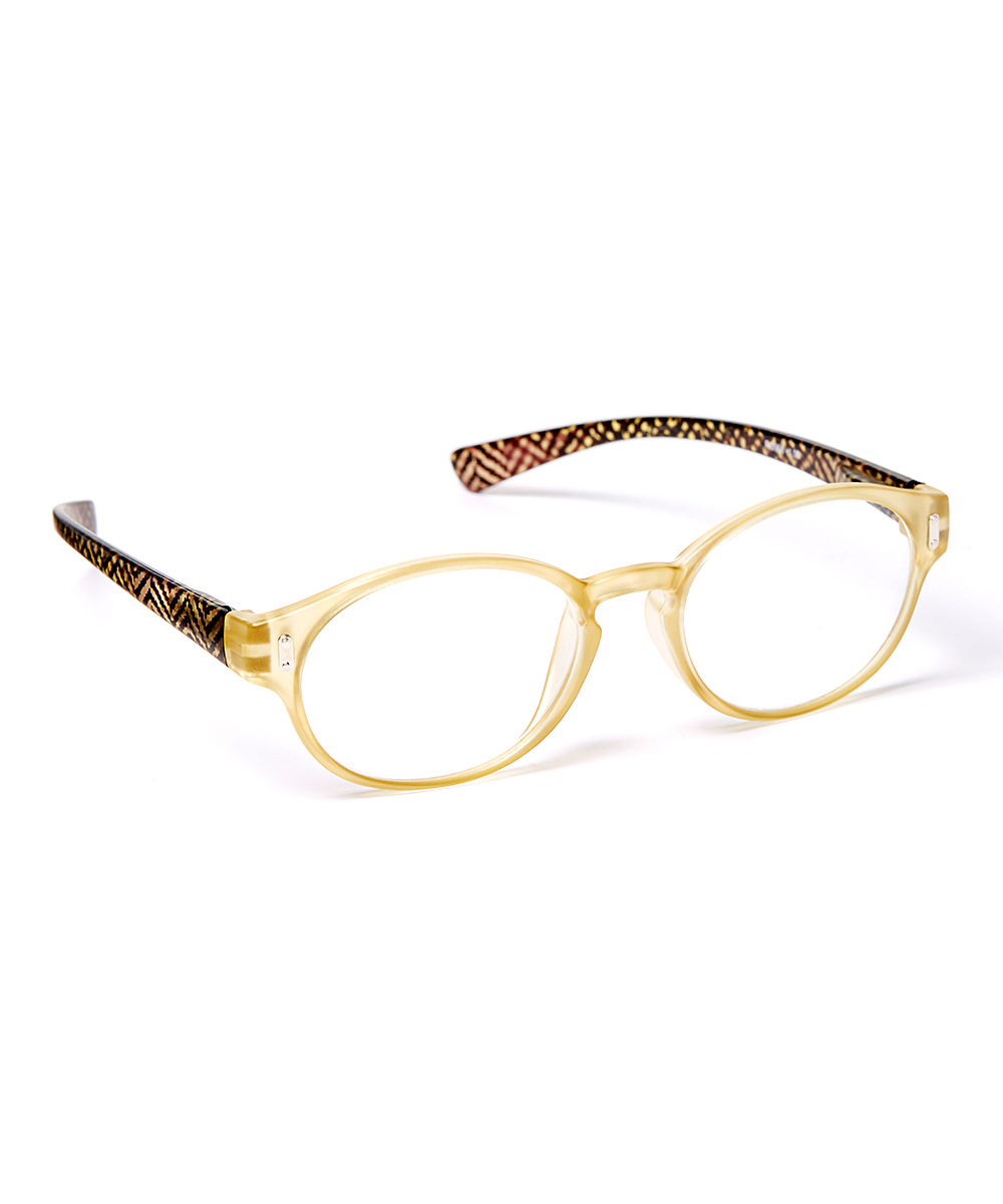 Art Wear Women's Reading Glasses YELLOW - Yellow Chevron Readers
