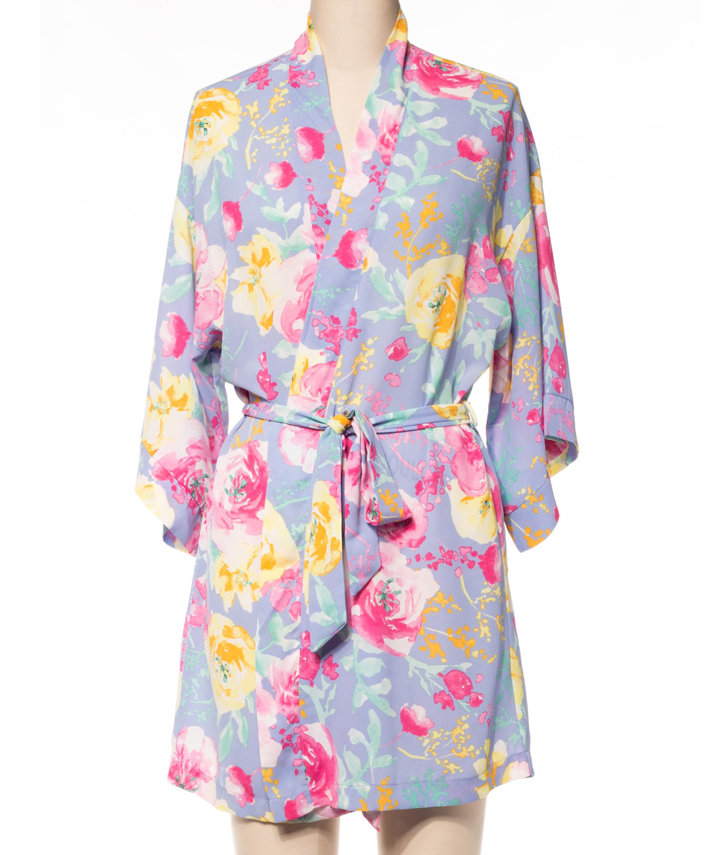 f0f6f451744b Coveted Clothing Lavender   Yellow Floral Belted Robe - Women