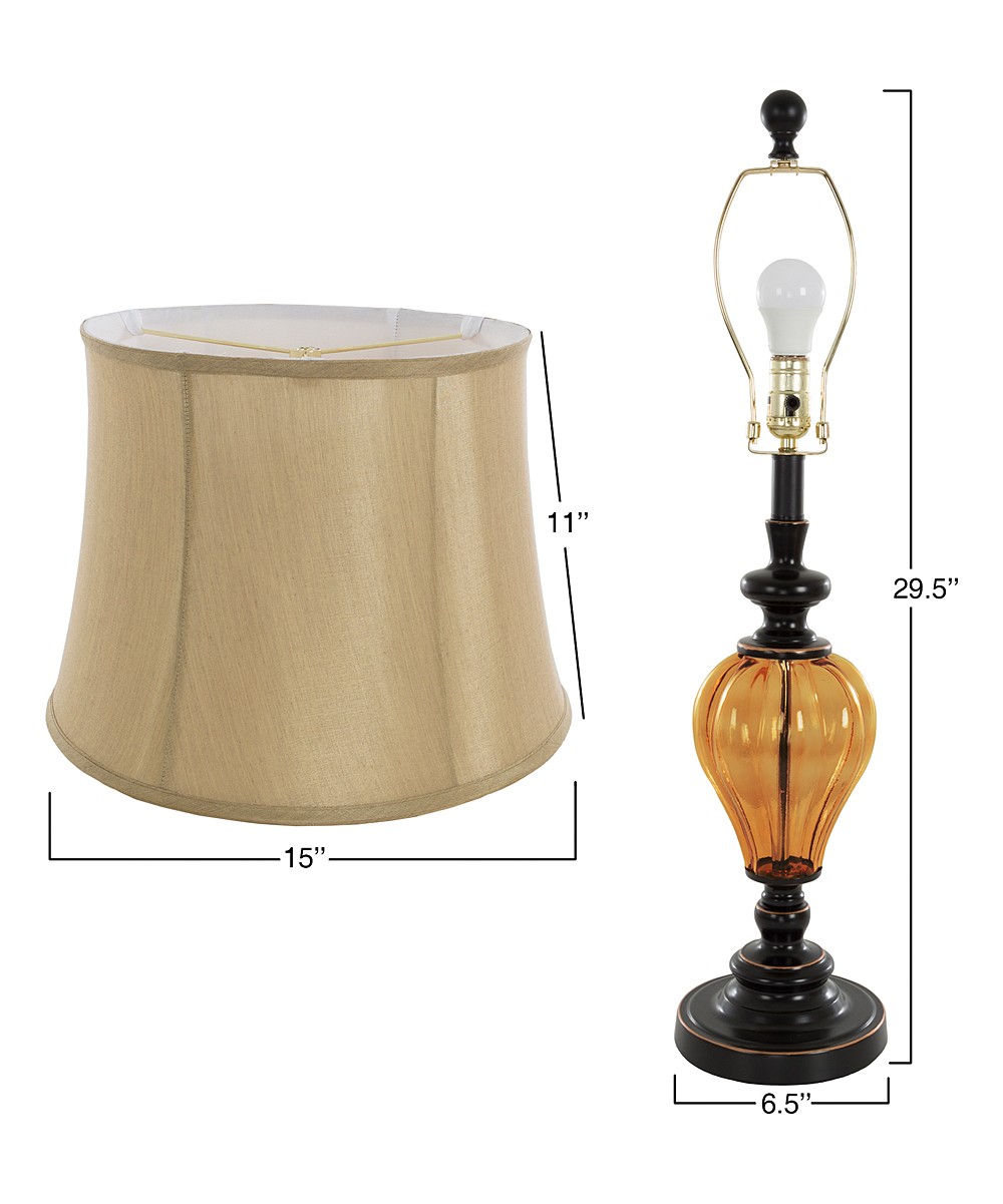 Amber Glass Table Lamp Set Of Two Zulily
