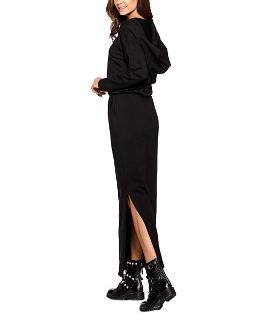 Lemoniade Black Hooded Maxi Dress Women Zulily
