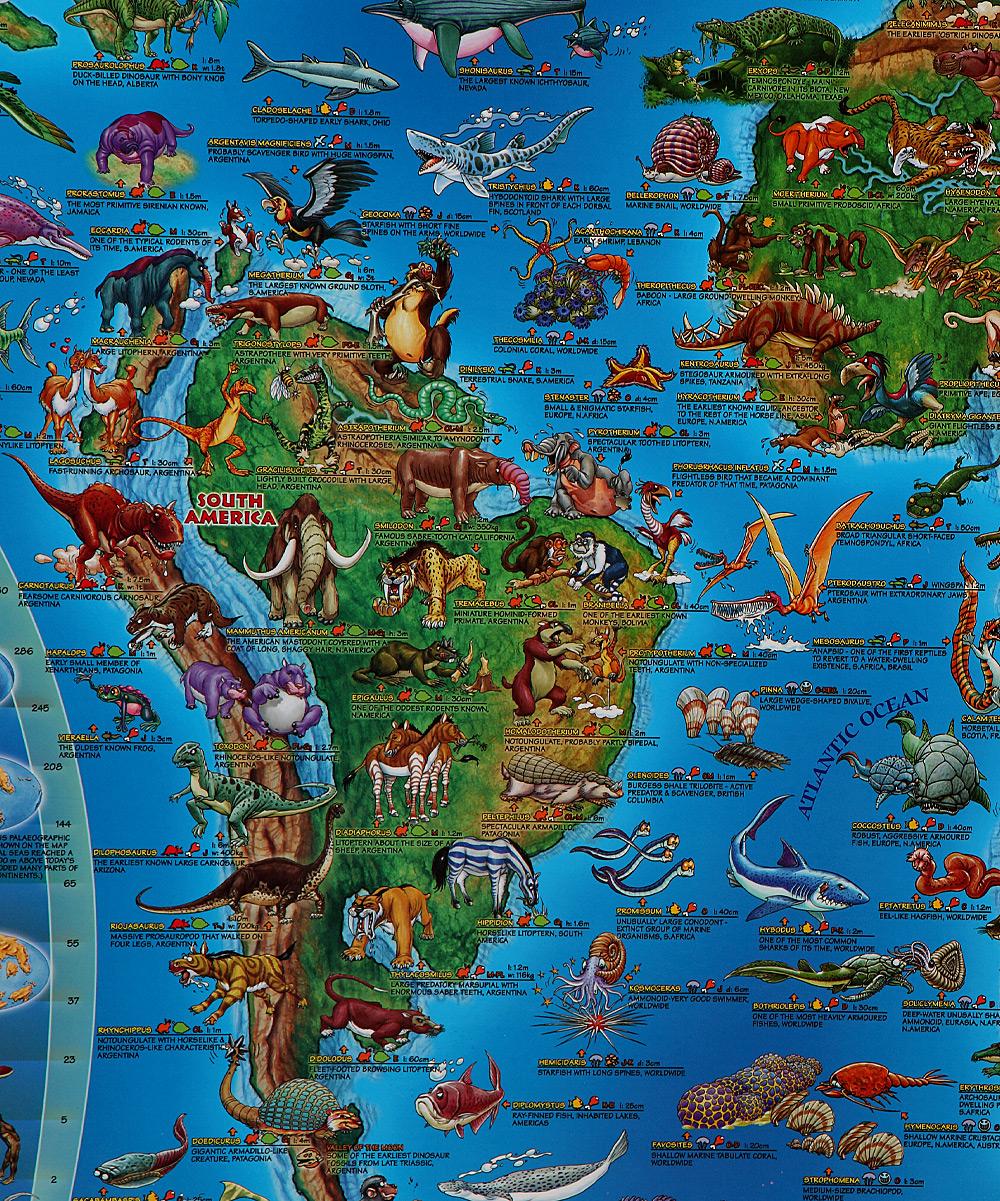 Round World Prehistoric World Map Zulily