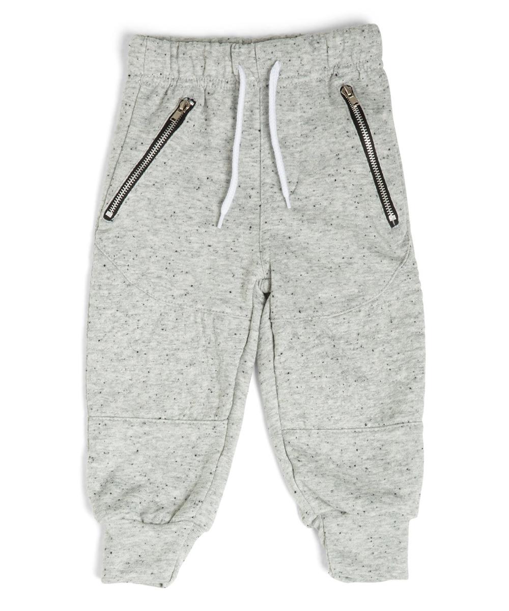 b5c9d46b Littlest Prince Couture Gray Moto Sweatpants - Infant, Toddler ...
