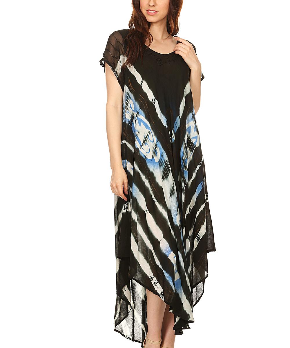 0ad4a158fa9 all gone. Black Semisheer Batik Embroidered Maxi Dress
