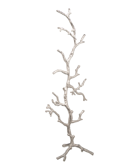 22'' Silver Twig Jewelry Stand 22'' Silver Twig Jewelry Stand. Gleaming branches offer spreading organization that accents your space with a touch of modern glam. 7.75'' W x 22'' W x 6'' DMetalImported