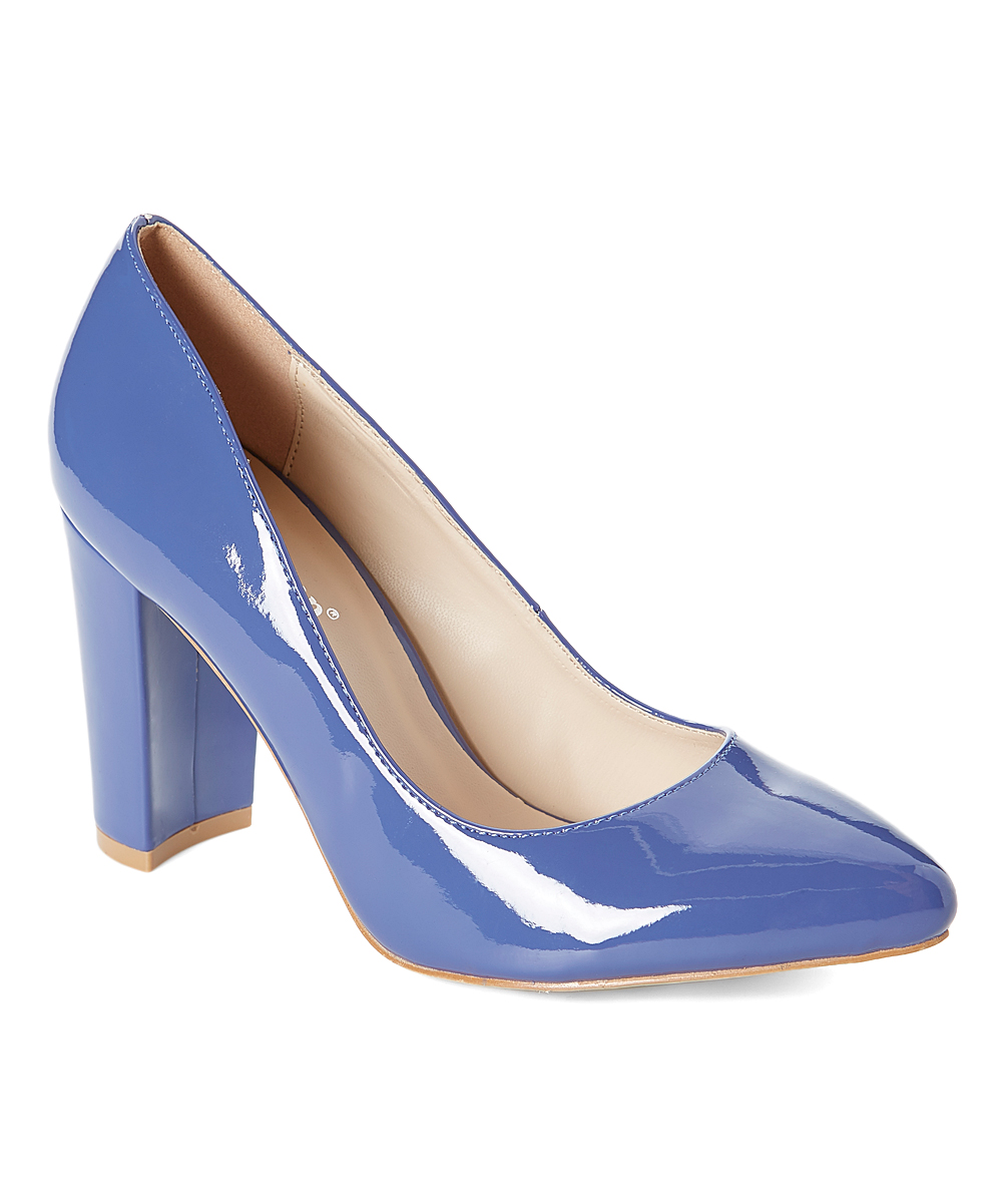6d30cc7478ae6 Sexy Step Blue Patent Pump
